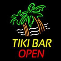 Tiki Bar Open Neon Skilt