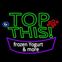 Top This Frozen Yogurt N More Neon Skilt