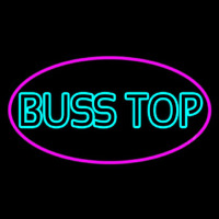 Turquoise Bus Stop Neon Skilt