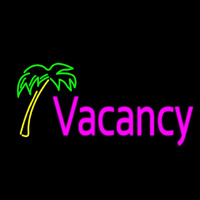 Vacancy Palm Tree Neon Skilt
