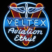Velte  Aviation Gasoline Neon Skilt