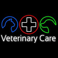 Veterinary Care Neon Skilt