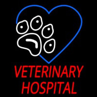 Veterinary Hospital Neon Skilt