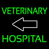 Veterinary Hospital With Arrow 1 Neon Skilt