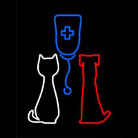 Veterinary Pet Clinic Neon Skilt