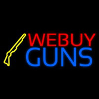 We Buy Guns Neon Skilt