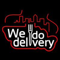 We Do Delivery Neon Skilt