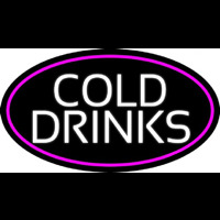White Cold Drinks Neon Skilt