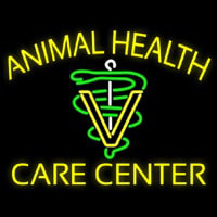 Yellow Animal Health Care Center Neon Skilt