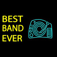 Yellow Best Band Ever Neon Skilt