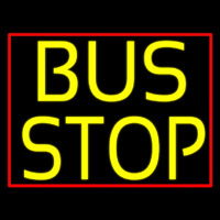 Yellow Bus Stop Neon Skilt