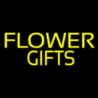 Yellow Flower Gifts In Block Neon Skilt