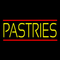 Yellow Pastries Neon Skilt