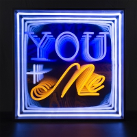 You Me 3D Infinity LED Neon Sign