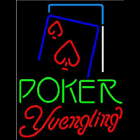 Yuengling Green Poker Red Heart Beer Sign Neon Skilt