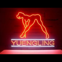 Yuengling Live Nudes Girl Neon Skilt