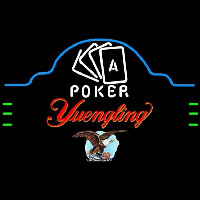 Yuengling Poker Ace Cards Beer Sign Neon Skilt