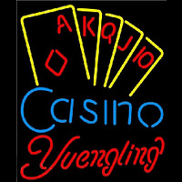Yuengling Poker Casino Ace Series Beer Sign Neon Skilt