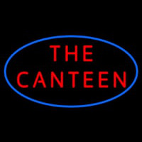 The Canteen With Blue Border Neon Skilt