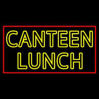 Double Stroke Canteen Lunch Neon Skilt